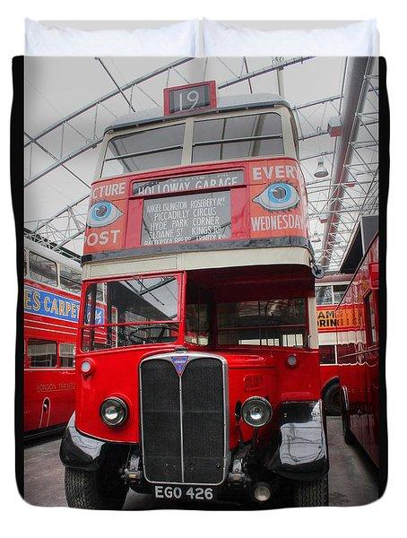 1937 Aec Regent I Bus Stl2377 Duvet Cover