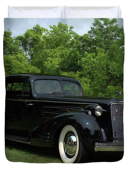 1937 Cadillac V16 Fleetwood Stationary Coupe Duvet Cover