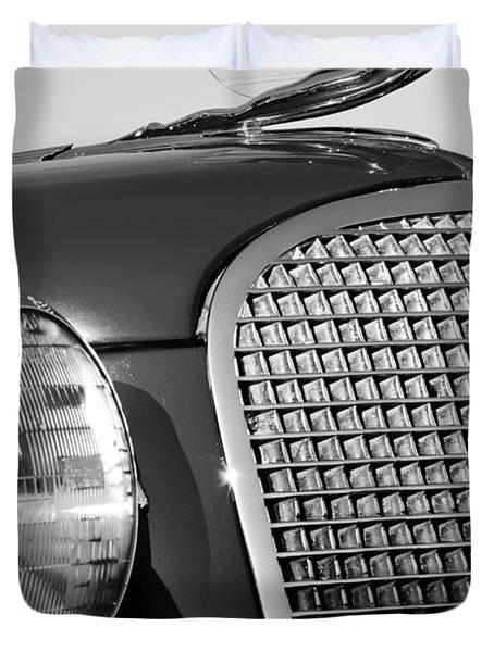 1937 Cadillac V8 Hood Ornament 3 Duvet Cover by Jill Reger