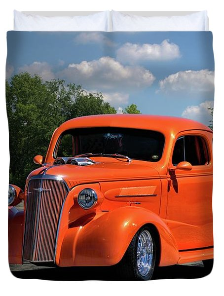 Duvet Cover featuring the photograph 1937 Chevrolet Coupe by Tim McCullough