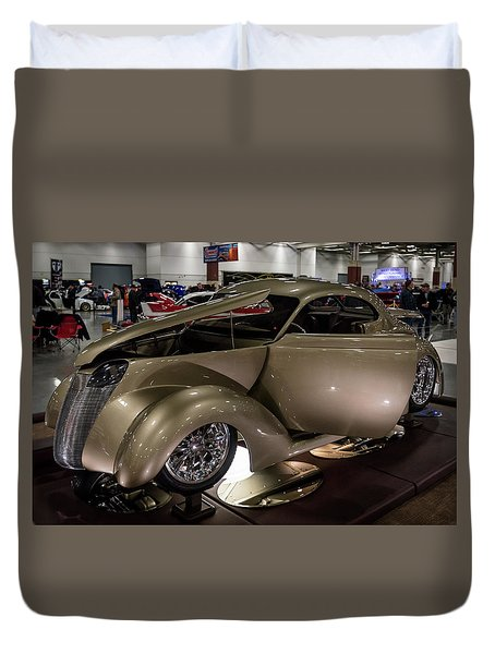 Duvet Cover featuring the photograph 1937 Ford Coupe by Randy Scherkenbach