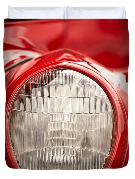 1937 Ford Headlight Detail Duvet Cover
