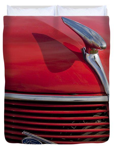 1937 Ford Hood Ornament Duvet Cover by Jill Reger