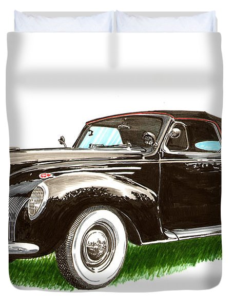 1937 Lincoln Zephyer Duvet Cover by Jack Pumphrey