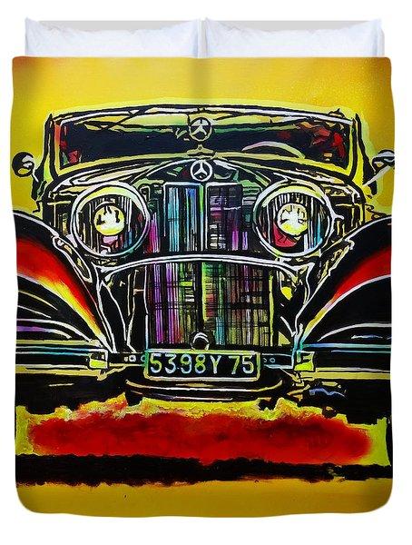 1937 Mercedes Benz First Wheel Down Duvet Cover