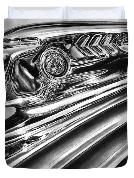 1937 Pontiac Chieftain Abstract Duvet Cover by Peter Piatt
