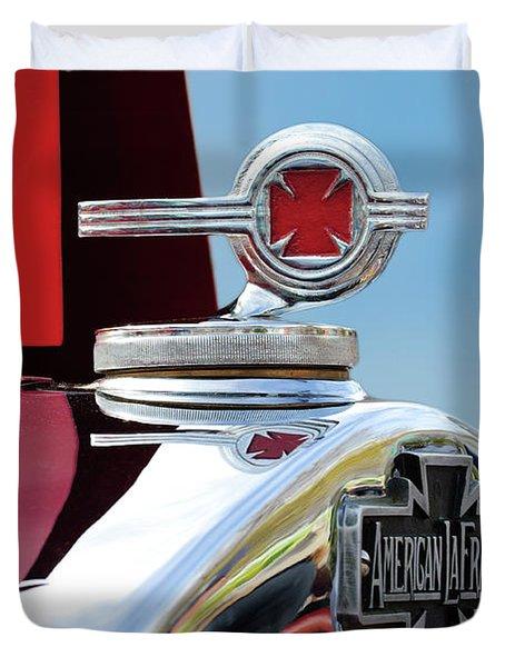 1938 American Lafrance Fire Truck Hood Ornament Duvet Cover