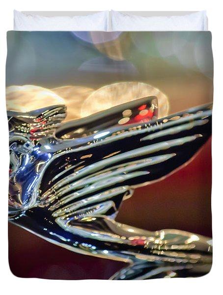 1938 Cadillac V-16 Sedan Hood Ornament Duvet Cover by Jill Reger