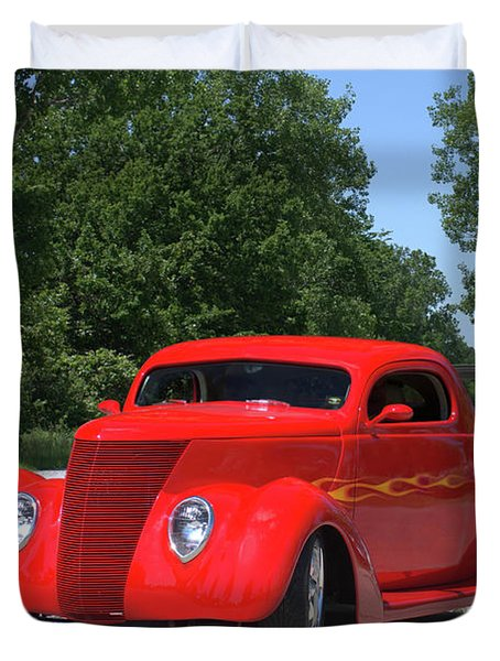 Duvet Cover featuring the photograph 1938 Ford Coupe by Tim McCullough