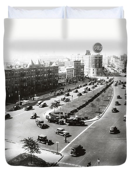 1938 Kenmore Square Boston Duvet Cover by Historic Image