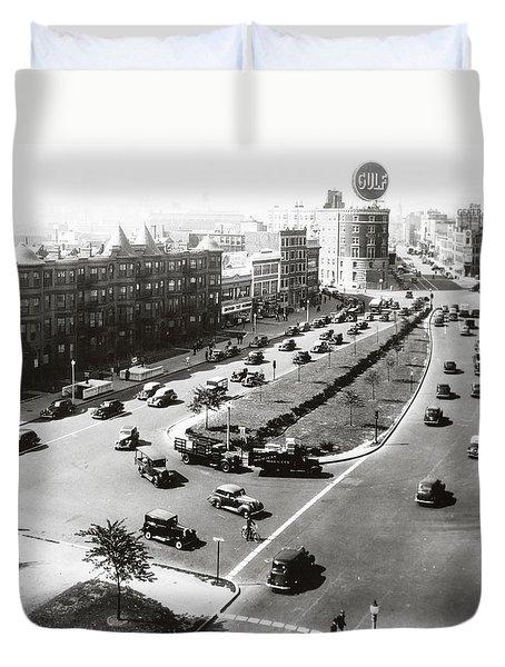 1938 Kenmore Square Boston Duvet Cover
