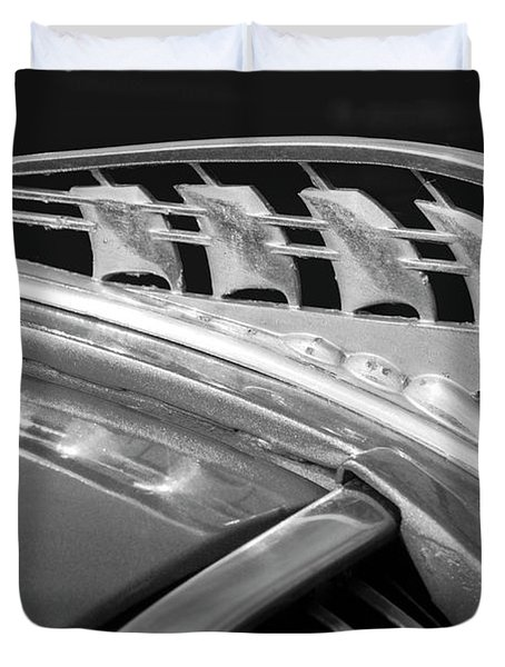 1938 Plymouth Hood Ornament 2 Duvet Cover