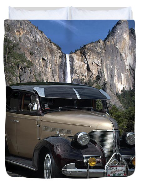 Duvet Cover featuring the photograph 1939 Chevrolet Sedan Custom Street Rod by Tim McCullough