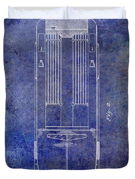 1939 Fire Truck Patent Blue Duvet Cover