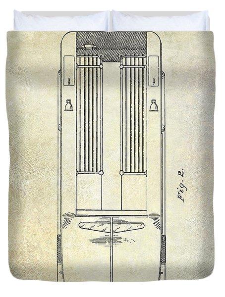 1939 Fire Truck Patent Duvet Cover