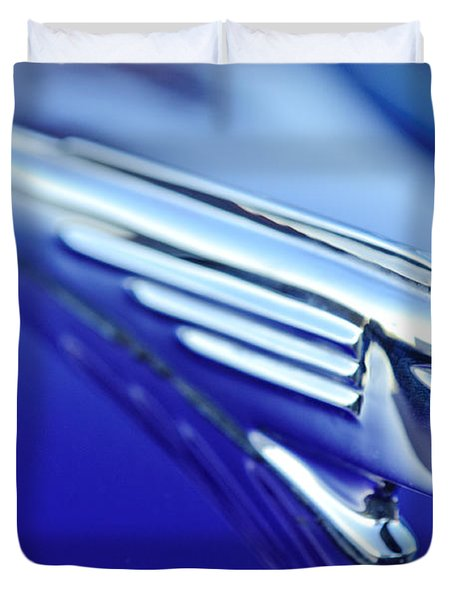 1939 Pontiac Coupe Hood Ornament 4 Duvet Cover by Jill Reger