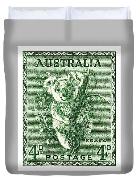 1940 Australia Koala Postage Stamp Duvet Cover