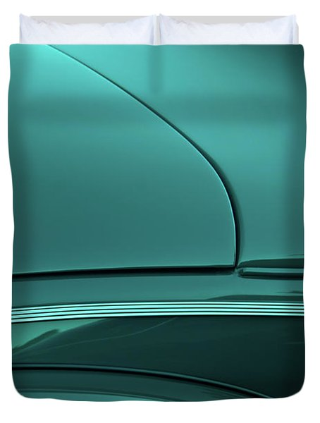 1940 Ford Deluxe Coupe Curves Duvet Cover