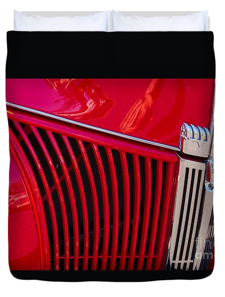 1940 Ford Pickup Grill Duvet Cover