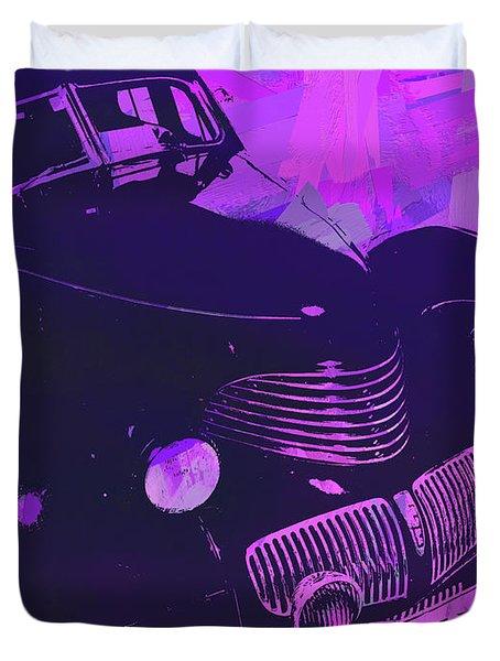 1940 Hupp Skylark Violet Pop Duvet Cover