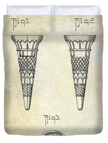 1940 Ice Cream Cone Patent Duvet Cover