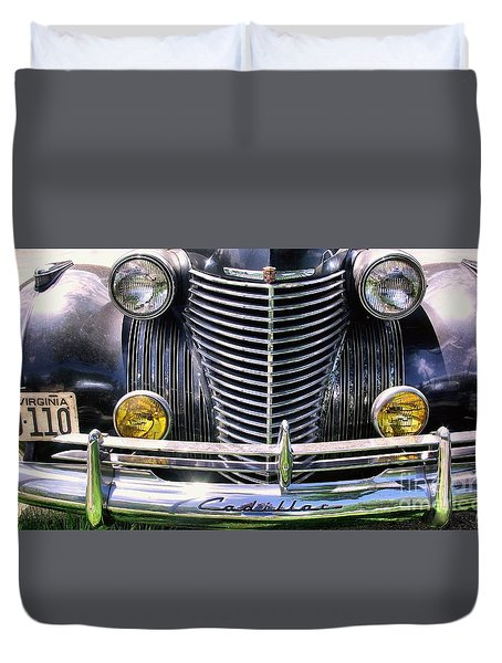 Duvet Cover featuring the photograph 1940s Caddie Full Frontal Oh La La by John S