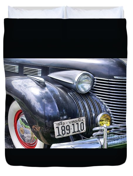 Duvet Cover featuring the photograph 1940s Caddie by John S