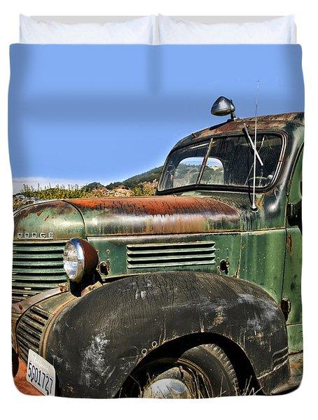 Duvet Cover featuring the photograph 1940s Dodge Truck by Gigi Ebert