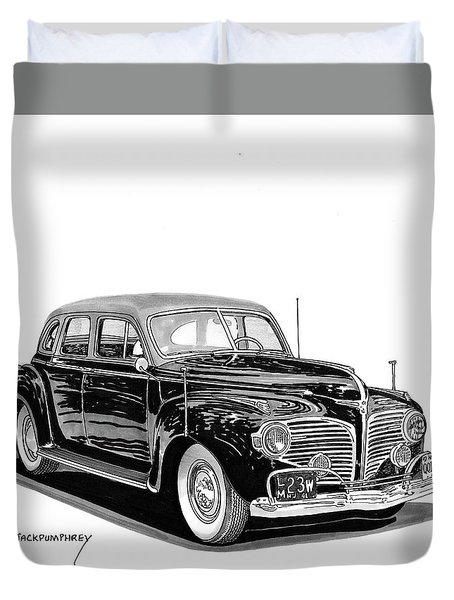 Duvet Cover featuring the painting 1941 Dodge Town Sedan by Jack Pumphrey