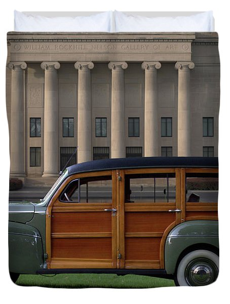 1941 Ford Super Deluxe Country Squire Woody Station Wagon Duvet Cover