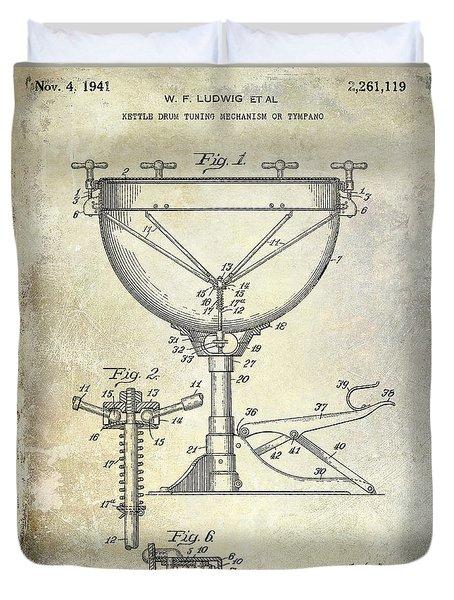 1941 Ludwig Drum Patent  Duvet Cover
