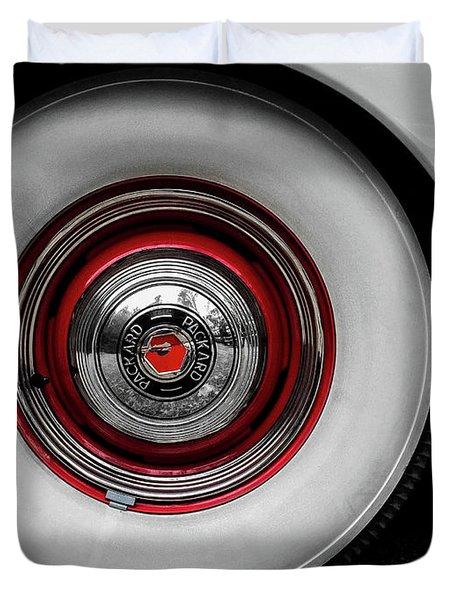 1941 Packard Convertible Wheels Duvet Cover