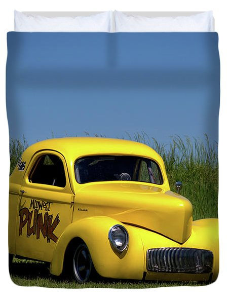1941 Willys Coupe Dragster Duvet Cover