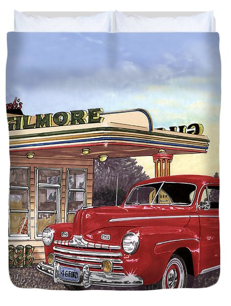 1946 Ford Deluxe Coupe Duvet Cover by Jack Pumphrey