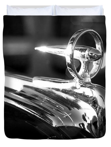 1946 Ford V8 Hood Ornament Duvet Cover