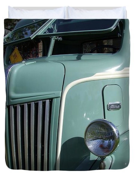 1947 Ford Cab Over Truck Duvet Cover by Mary Deal