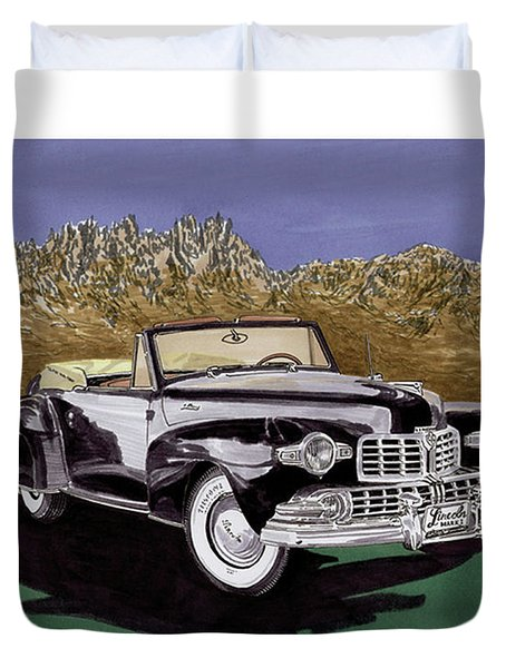 1947 Lincoln Continental Mk I Duvet Cover by Jack Pumphrey