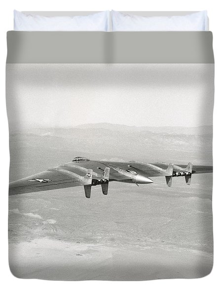 Duvet Cover featuring the photograph 1947 Northrop Flying Wing by Historic Image