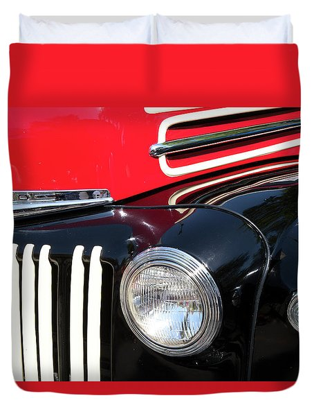 1947 Vintage Ford Pickup Truck Duvet Cover by Theresa Tahara