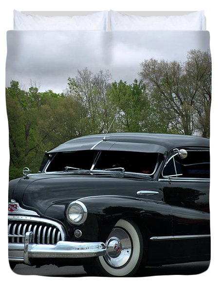 Duvet Cover featuring the photograph 1948 Buick by Tim McCullough