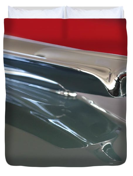 1948 Cadillac Series 62 Hood Ornament Duvet Cover by Jill Reger