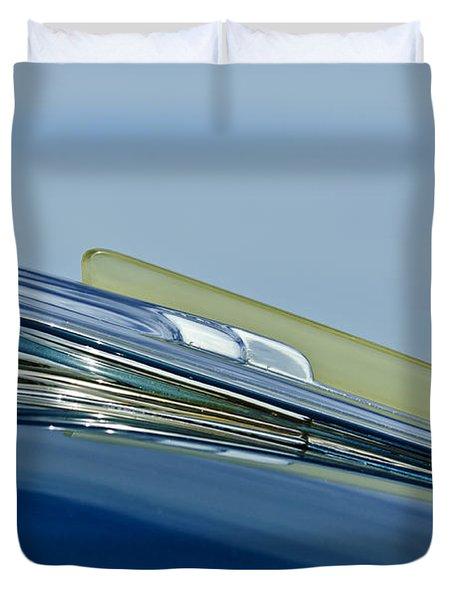 1948 Chevrolet Fleetline Hood Ornament Duvet Cover by Jill Reger