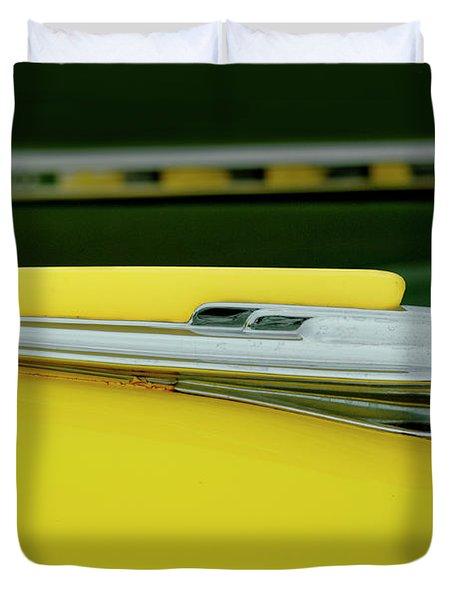 1948 Chevrolet Fleetmaster Hood Ornamnet Duvet Cover by Jill Reger