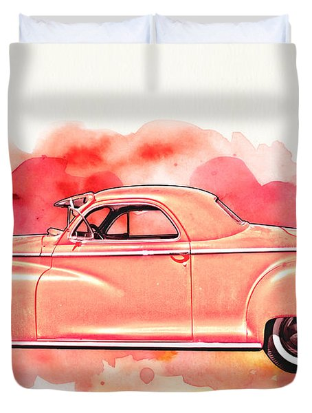 1948 Dodge Coupe As Seen In Luckenbach Texas By Vivachas Duvet Cover