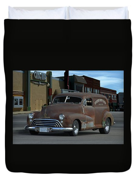 1948 Oldsmobile Sedan Delivery Duvet Cover by Tim McCullough