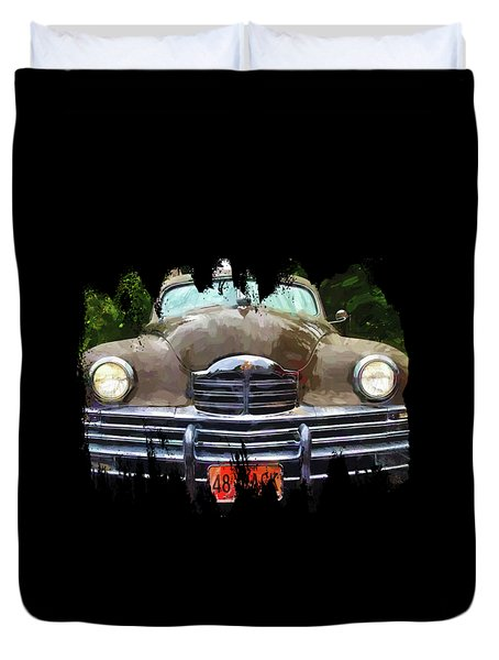 1948 Packard Super 8 Touring Sedan Duvet Cover by Thom Zehrfeld