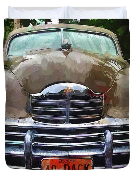 Duvet Cover featuring the photograph 1948 Packard Super 8 Touring Sedan by Thom Zehrfeld