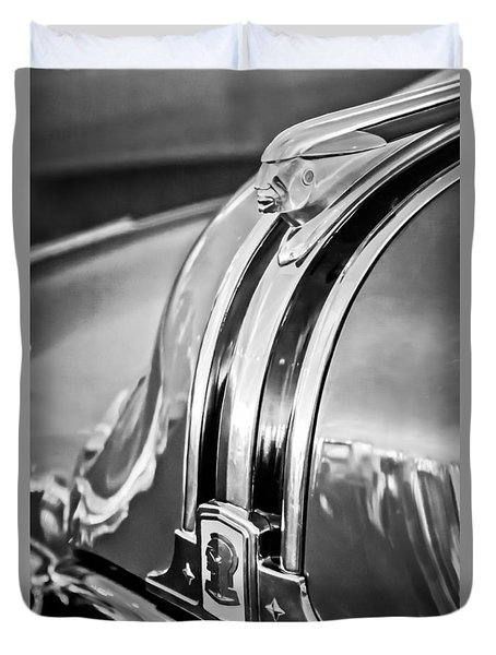 1948 Pontiac Chief Hood Ornament 4 Duvet Cover by Jill Reger
