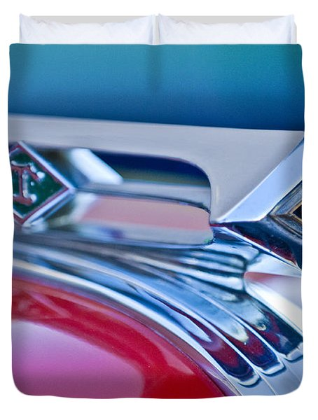 1949 Diamond T Truck Hood Ornament 3 Duvet Cover by Jill Reger