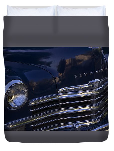 1949 Plymouth Deluxe  Duvet Cover by Cathy Anderson